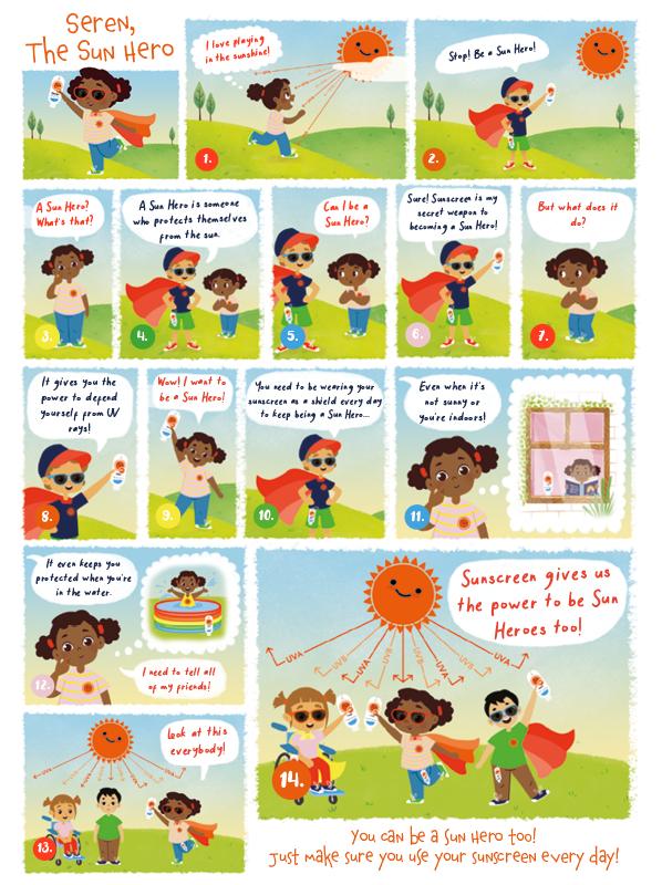 End #SunPoverty: Escentual Sun Hero Education Comic