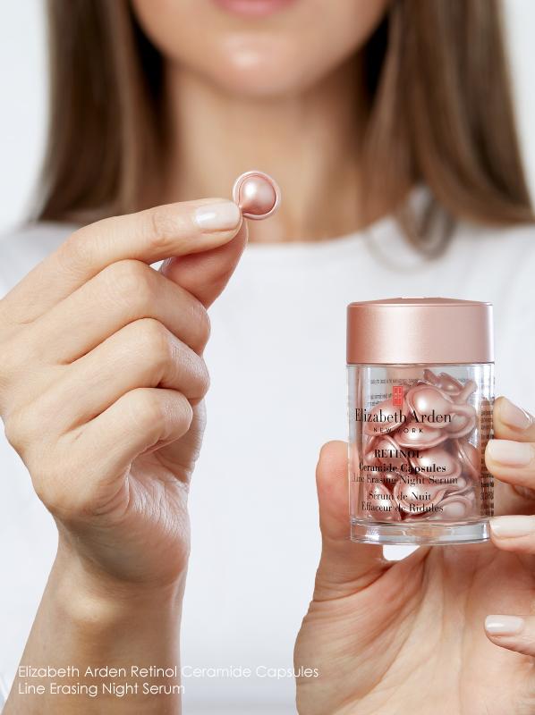 best products for enlarged pores Elizabeth Arden Retinol Ceramide Capsules Line Erasing Night Serum