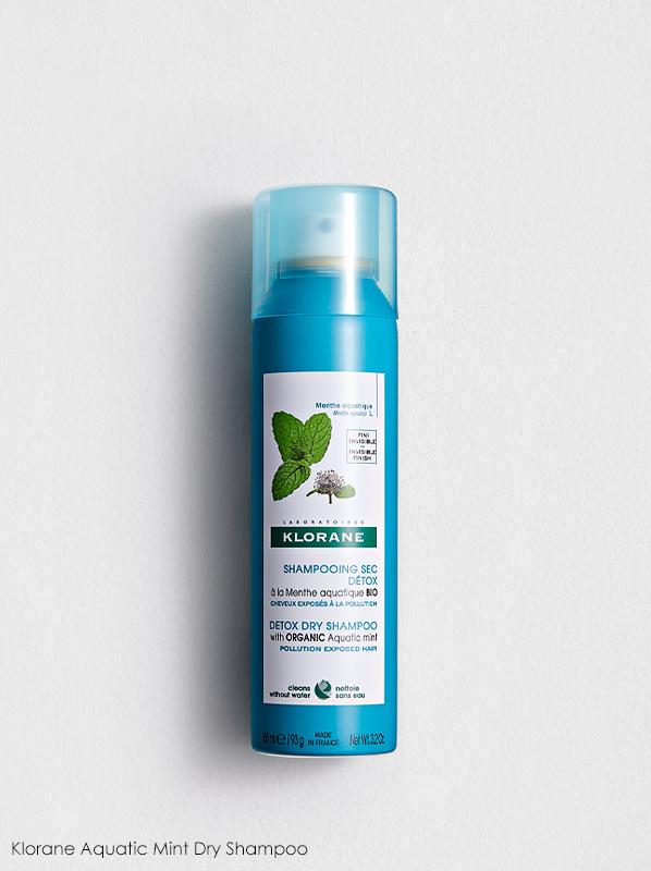 best multipurpose french pharmacy skincare hair care: Klorane Aquatic Mint Detox Dry Shampoo