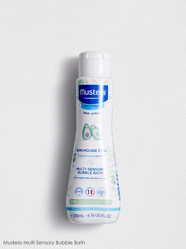 best multipurpose french pharmacy skincare: Mustela Multi Sensory Bubble Bath