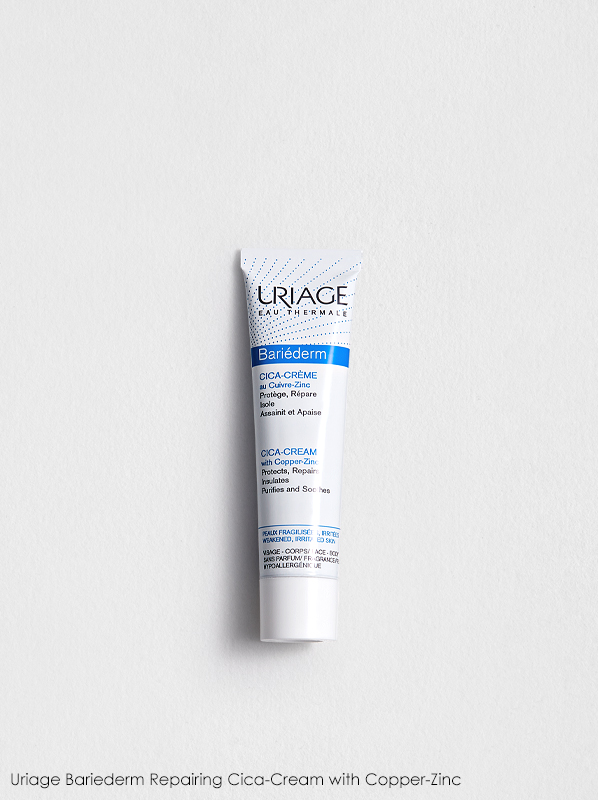 best multi-purpose french pharmacy skincare: Uriage Bariederm Repairing Cica-Cream with Copper-Zinc