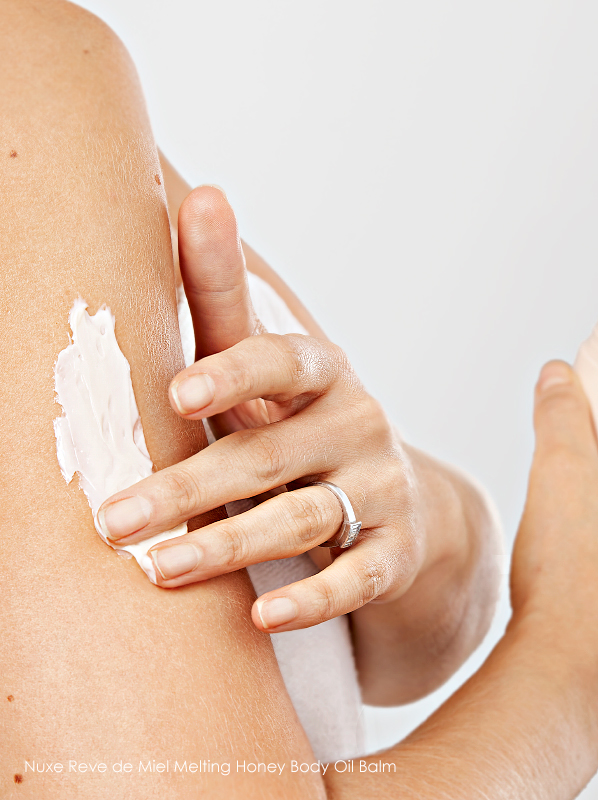 Secrets for Smooth Skin; Nuxe Reve de Miel Melting Honey Body Oil Balm
