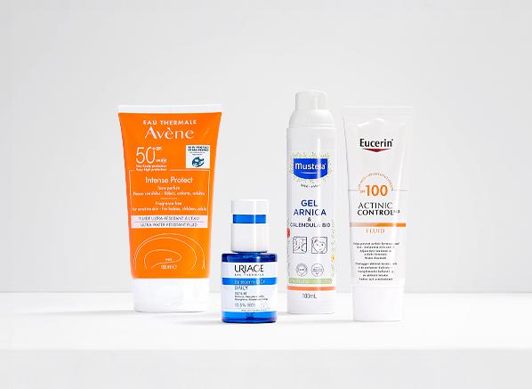 New French Pharmacy 2021: Avene Sun Care Intense Protect, Uriage Bariederm Cica Daily Serum, Mustela Arnica & Calendula Gel, Eucerin Actinic-Control MD Fluid SPF100