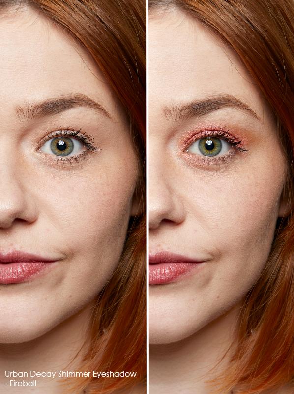 Best eyeshadow for green eyes: Urban Decay Shimmer Eyeshadow in shade Fireball