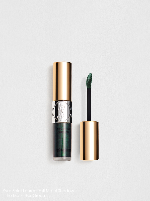 Best eye shadow for hazel eyes is the Yves Saint Laurent Full Metal Shadow - The Mats in fur green