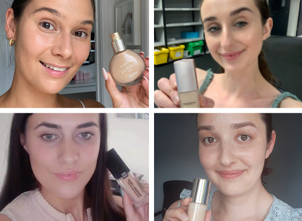 We Tested 4 Foundations With Skincare...