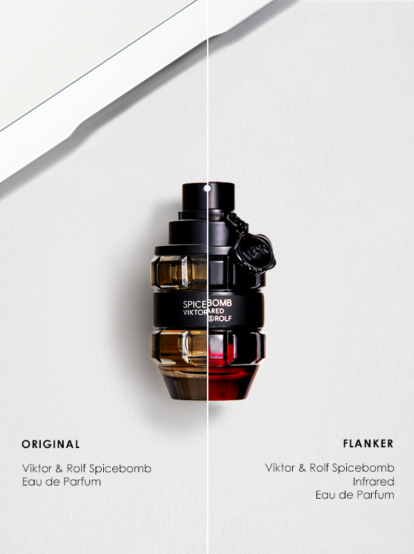 Original vs Flanker Fragrances; Viktor & Rolf Spicebomb Eau de Toilette and Spicebomb Infrared Eau de Toilette
