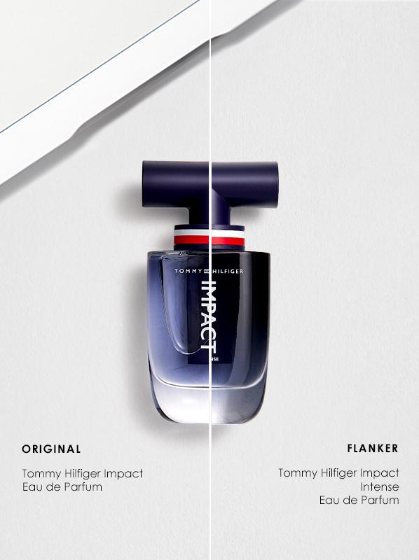 Original vs Flanker Fragrances; Tommy Hilfiger Impact Eau de Toilette and Impact Intense Eau de Parfum