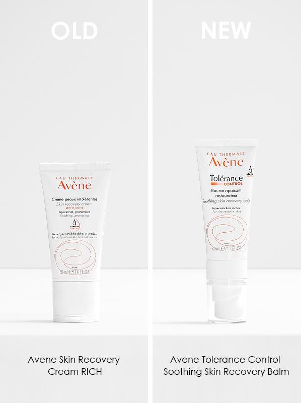 Avene Tolerance Reformulation 2021; Avene Skin Recovery Cream Rich and Avene Tolerance Control Soothing Skin Recovery Balm