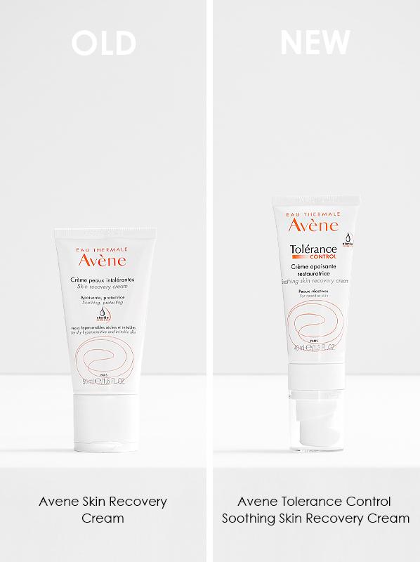 Avene Tolerance 2021 Reformulation; Avene Skin Recovery Cream and Avene Tolerance Control Soothing Skin Recovery Cream