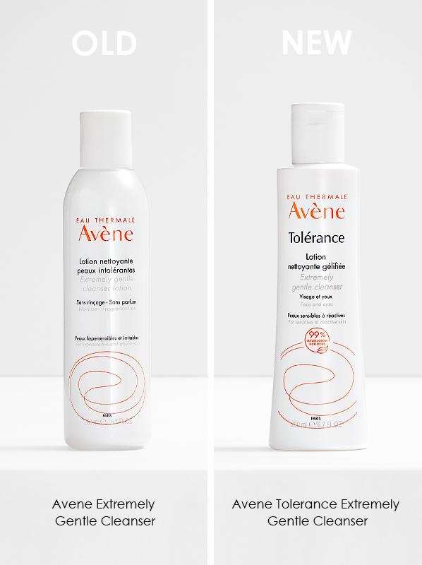 Avene Tolerance 2021 Reformulation; Avene Tolerance Gentle Cleanser and Avene Tolerance Extremely Gentle Cleanser
