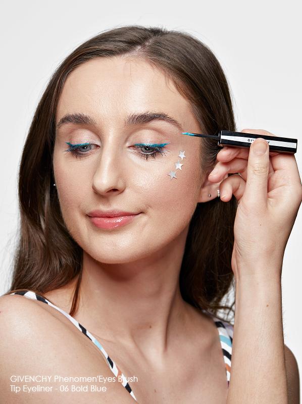 Best colour eyeliner: GIVENCHY Phenomen'Eyes Brush Tip Eyeliner in shade 06 Bold Blue swatch