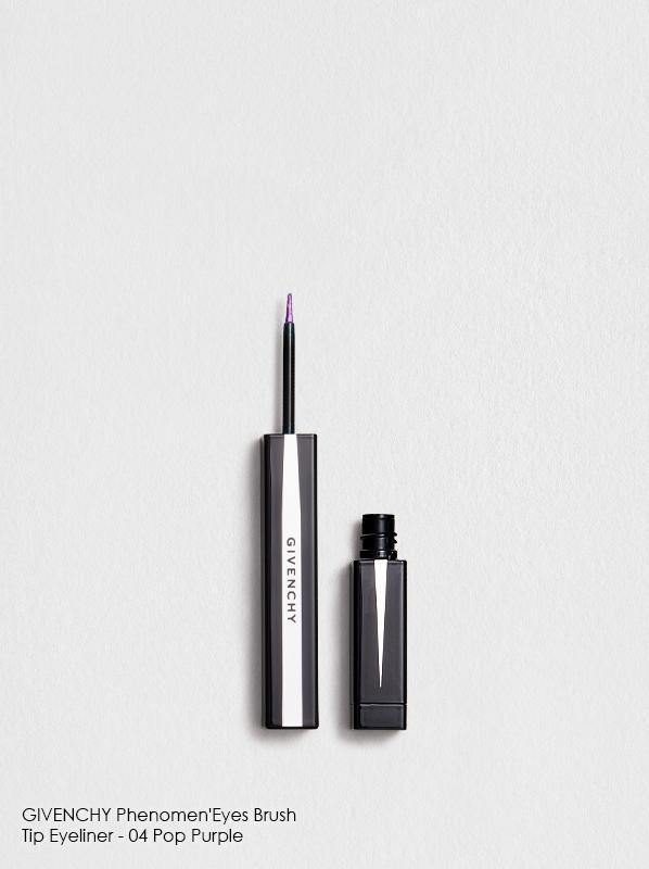 Flat lay of GIVENCHY Phenomen'Eyes Brush Tip Eyeliner in shade 04 - Pop Purple