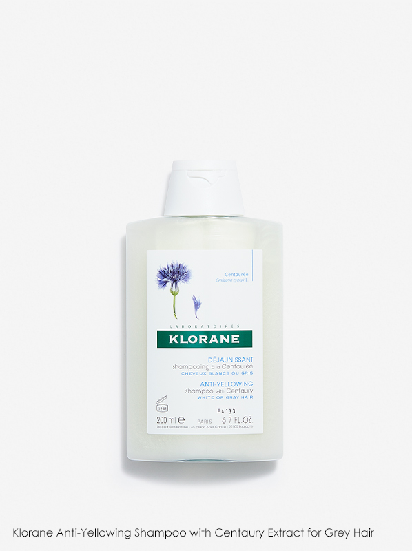Klorane Anti-Yellowing Shampoo with Centaury Extract for Grey Hair