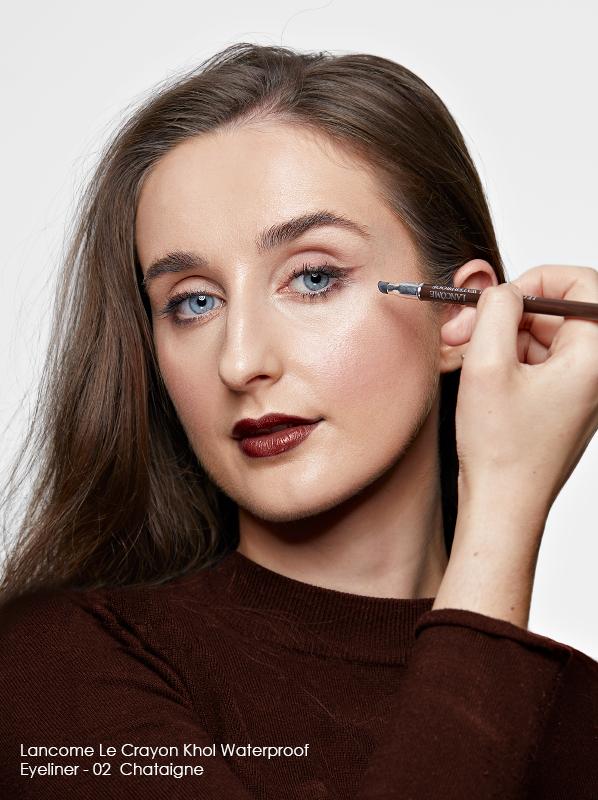 Best eyeliner edit including Lancome Le Crayon Khol Waterproof Eyeliner in 02 - Chataigne