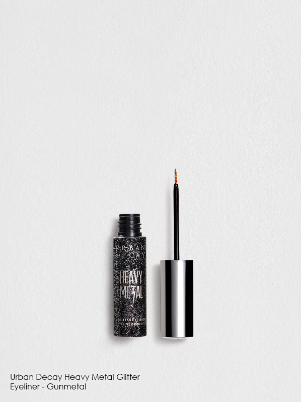 Urban Decay Heavy Metal Glitter Eyeliner in Gunmetal for colour eyeliner to match your eye colour guide