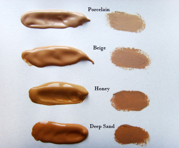 Daniels Sandler Invisible Radiance Foundation Swatches
