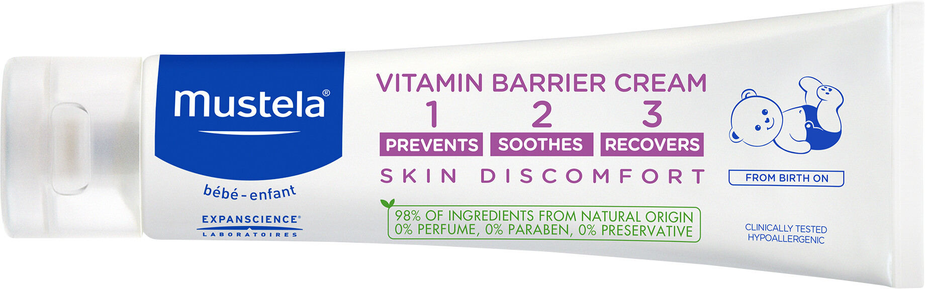Mustela Vitamin Barrier Skin Discomfort 1-2-3 Cream 100ml