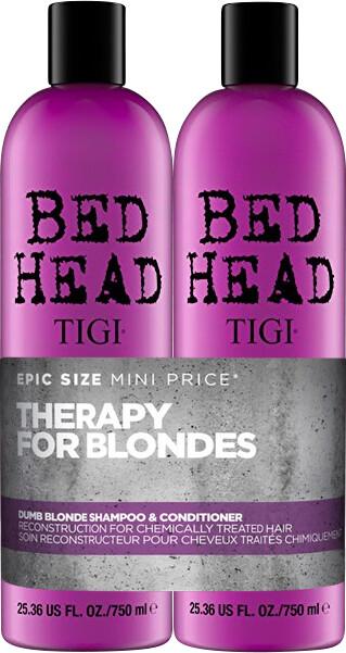TIGI Bed Head Dumb Blonde Shampoo and Reconstructor Tween Duo 2 x 750ml