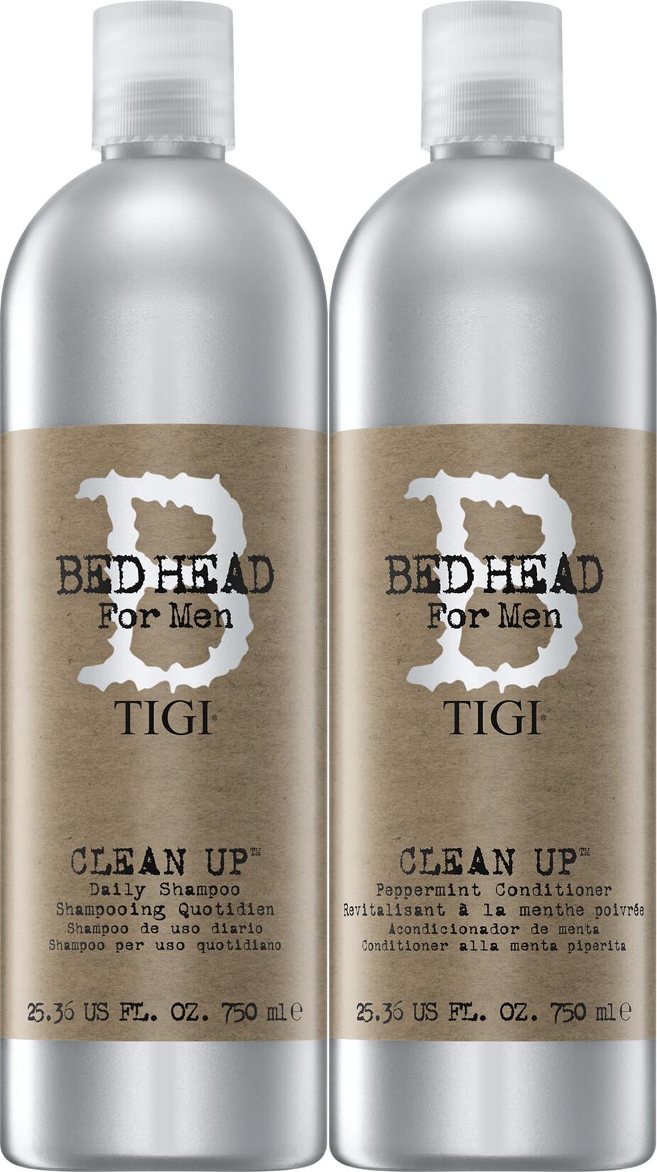 TIGI Bed Head For Men Clean Up Shampoo and Conditioner Tween Duo 2 x 750ml