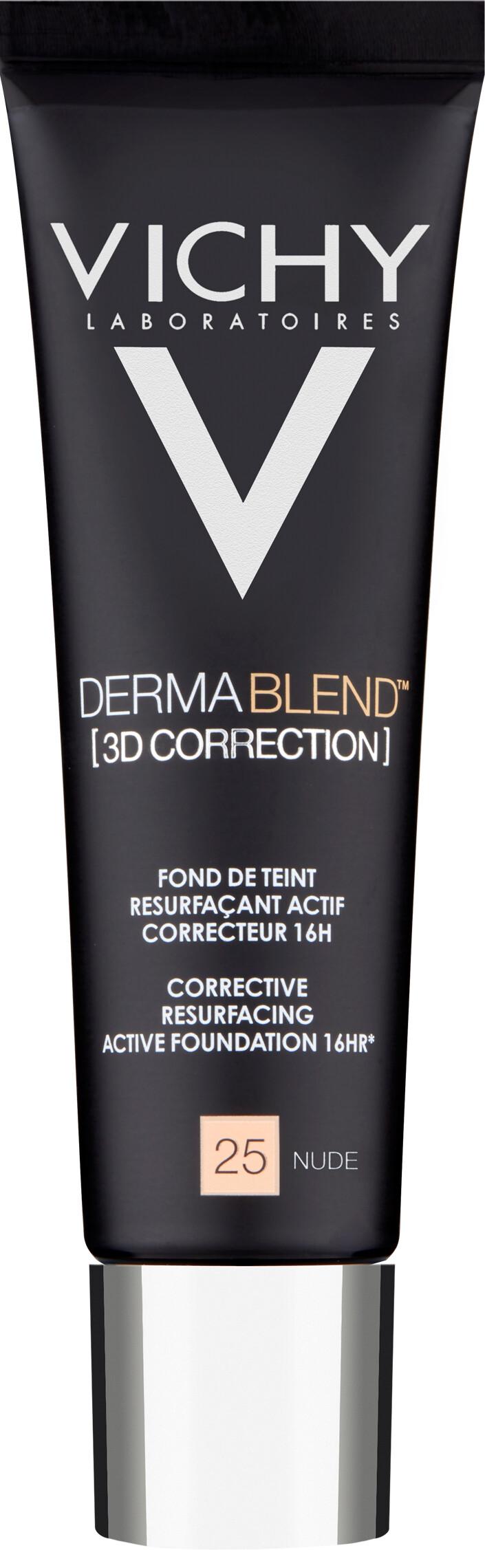 VICHY DERMABLEND [3D CORRECTION] Corrective Resurfacing Active Foundation 16HR* 30ml 25 Nude