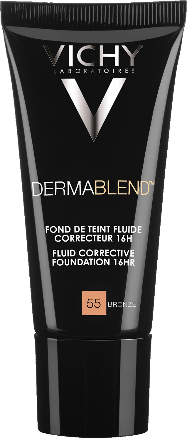 VICHY DERMABLEND Fluid Corrective Foundation 16HR 30ml 55 Bronze